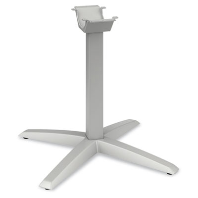 Aluminum X-Leg Base, 26-3/4w x 26-3/4d x 28-3/8h, Platinum