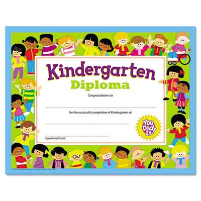 Colorful Classic Certificates, Kindergarten Diploma, 8 1/2 x 11,