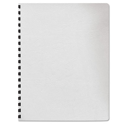 Classic Grain Texture Binding System Covers, 11-1/4 x 8-3/4, Whi