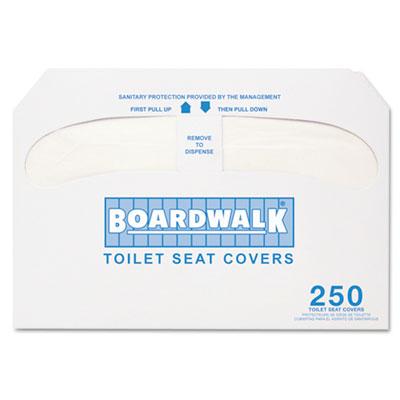 Premium Half-Fold Toilet Seat Covers, 250 Covers/Sleeve, 10 Slee