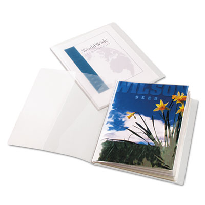 ClearThru ShowFile Presentation Book, 12 Letter-Size Sleeves, Cl