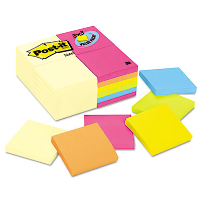 3 x 3, Canary Yellow & Neon, 24 100-Sheet Pads/Pack