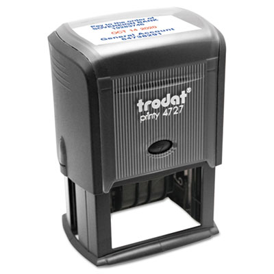 Custom Dater, Self-Inking, 2 3/8 x 1 5/8, Black/Blue/Red