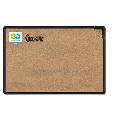 Black Splash-Cork Board, 96 x 48, Natural Cork, Black Frame