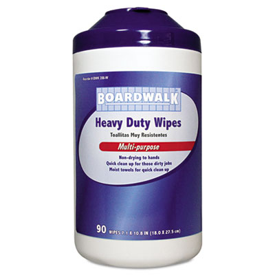 Heavy-Duty Wipes, 10 4/5 x 7, Fresh Scent, 90/Canister, 6 Canist