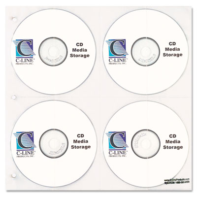 CD/DVD Refillable D-Ring Binder Kit, Holds 80 Disks, Black