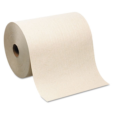 Hardwound Roll Paper Towel, Nonperforated, 7.87 x 1000ft, Brown,