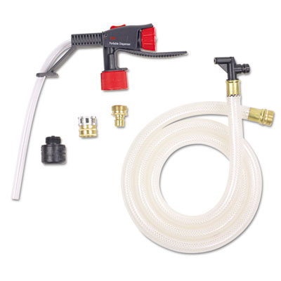 Portable Dispensing System P10, 6ft Hose, Clear/Black/Red