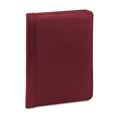 Pad Holder, Suede-Lined Leather w/Writing Pad, Inside Flap Pocke