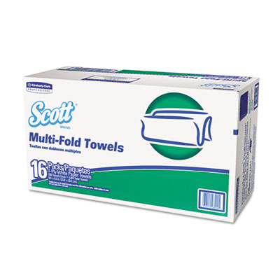 Folded Paper Towels, Multifold, 9 2/5 x 9 1/5, White, 250/Pack,
