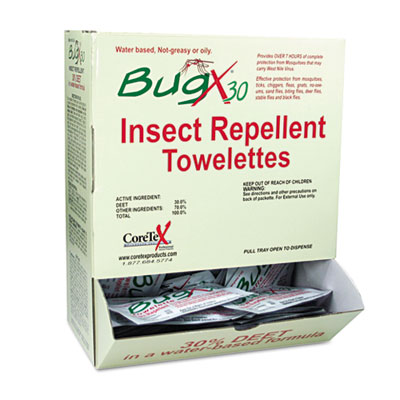 Insect Repellent Towelette, .27oz, 50/Box