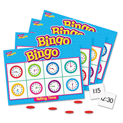Young Learner Bingo Game, Tell Time