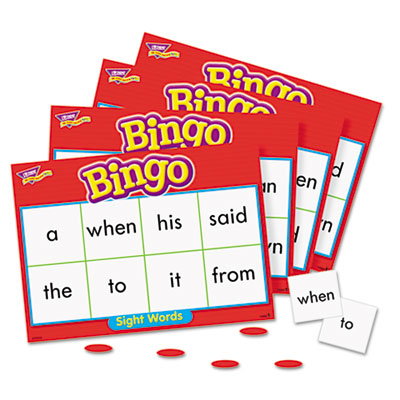 Young Learner Bingo Game, Sightwords