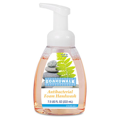 Antibacterial Foam Hand Soap, Fruity, 7.5oz Pump Bottle, 6/Carto