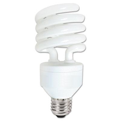 Compact Fluorescent Bulb, 27 Watt, T3 Spiral, Cool White