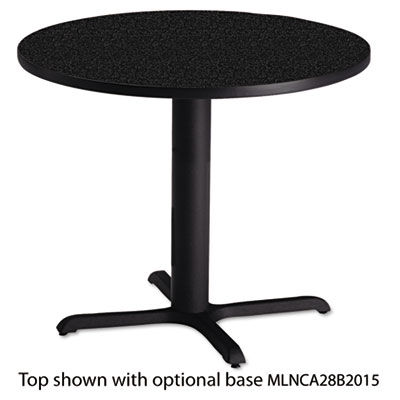 "Bistro Series 36"" Round Laminate Table Top, Charcoal Anthracite"