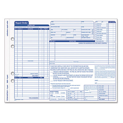 vehicle repair order template