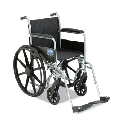 Excel K1 Basic Wheelchair, 18 x 16, 300lb Cap