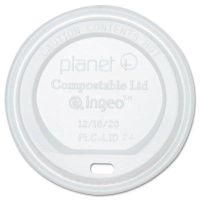 Planet+ Hot Cup Lid, Translucent, For 12oz Cups, 500/Carton