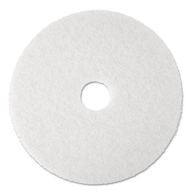 "Standard Floor Pads, 19"" dia, White, 5/Carton"