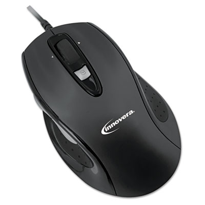 6 Button Ergonomic Laser Mouse w/USB Connectivity, Black