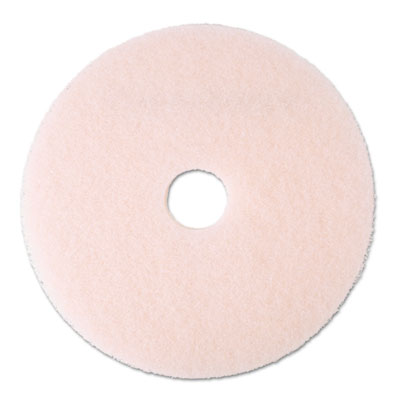 "Eraser Burnish Floor Pad 3600, 20"", Pink, 5/Carton"