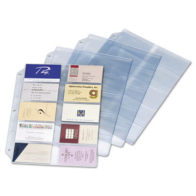 Business Card Refill Pages, Holds 200 Cards, Clear, 20 Cards/She