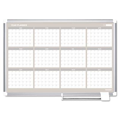 12 Month Planner, 48x36, Aluminum Frame