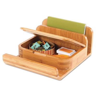Bamboo Desktop Organizer, 8 x 10 x 4, Natural