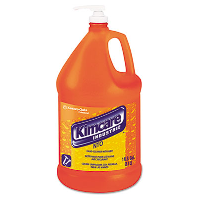 KIMCARE INDUSTRIES NTO Hand Cleaner w/Grit, Orange, 1gal Pump Bo
