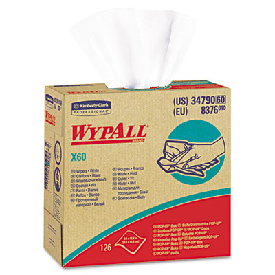 WYPALL X60 Wipers, HYDROKNIT, 9 1/8 x 16 4/5, 126/Box