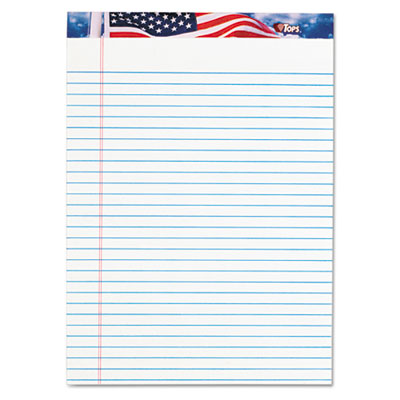 American Pride Writing Pad, Lgl Rule, 8-1/2 x 11-3/4, White, 50-
