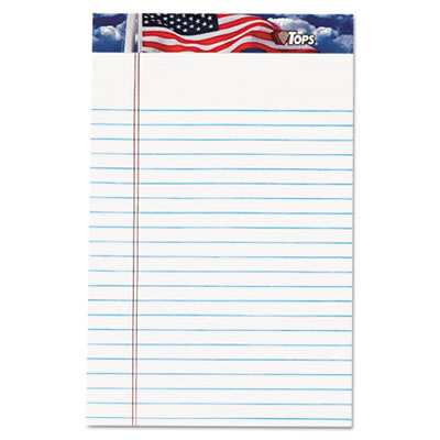 American Pride Writing Pad, Narrow Rule, 5 x 8, White, 12 50-She