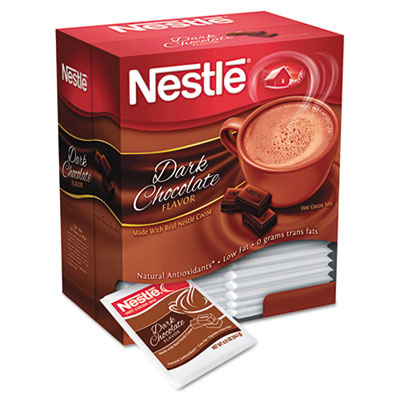 Instant Hot Cocoa Mix, Dark Chocolate, .71oz, 50/Box
