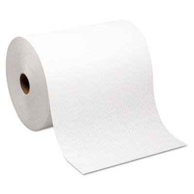Hardwound Roll Paper Towel, Nonperforated, 7.87 x 1000ft, White,