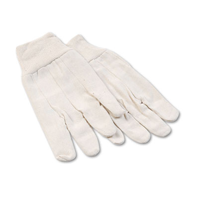 8oz Cotton Canvas Gloves, Large, 12 Pairs