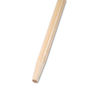 Tapered End Broom Handle, Lacquered Hardwood, 1 1/8 Dia. x 60 Lo