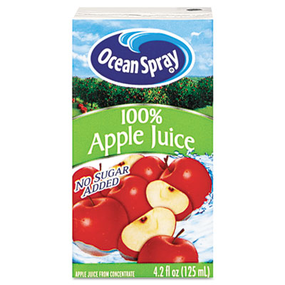 Aseptic Juice Boxes, 100% Apple, 4.2oz, 40/Carton