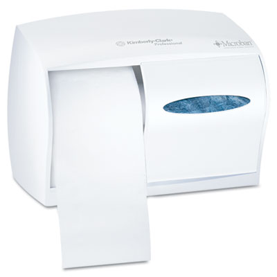 Coreless Double Roll Tissue Dispenser, 11 1/10 x 6 x 7 5/8, Whit