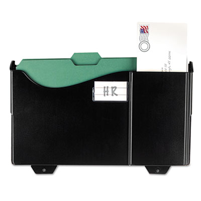 Add-on Wall File, Letter/Legal, 1 Pocket, 9 3/4 x 15 3/4, Black,