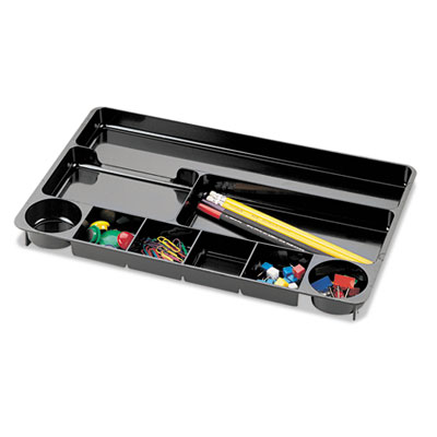 9 Compartment Recycled Desk Drawer Organizer, Plastic, 14 x 9 x