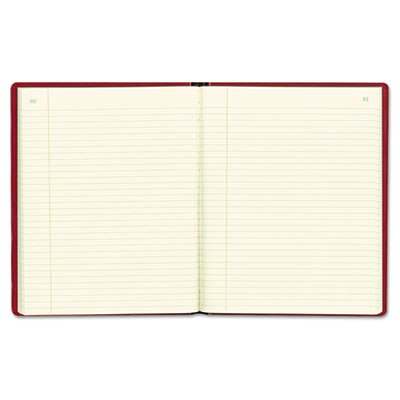 Red Vinyl Series Journal, 300 Pages, 7 3/4 x 10 Sheets, 8 1/4 x