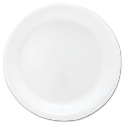 """Mediumweight Foam Dinnerware, Plates, 6"""" dia, White, 125/Pack"""