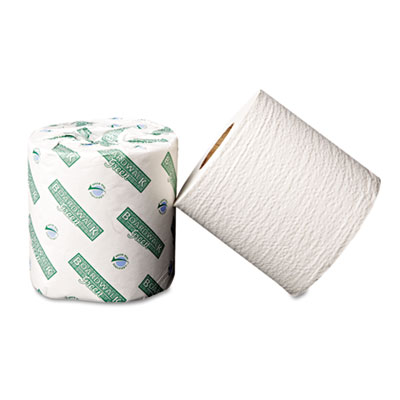 Boardwalk Green Bathroom Tissue, 2-Ply, White, 500 Sheets/Roll,