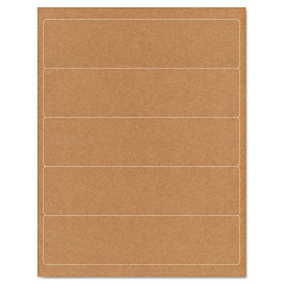 Brown Kraft Printer Labels, 2 x 8, Permanent Adhesive, 125/Pack