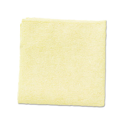 Microfiber Cleaning Cloths, 12 x 12, Yellow, 24/Pack