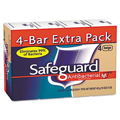 Antibacterial Bath Soap, Beige, 4oz Bar, 48/Carton
