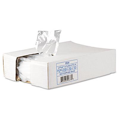 Get Reddi Silverware Bags, 3 1/2 x 10 x 1 1/2, .7mil, Clear, 200