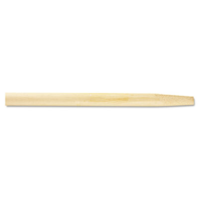 Tapered End Broom Handle, Lacquered Hardwood, 1 1/8 dia x 54, Na