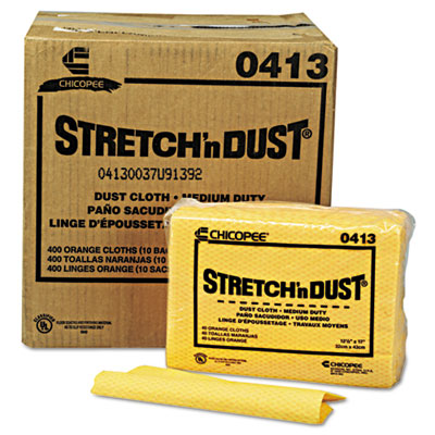 Stretch 'n Dust Cloths, 12 3/5 x 17, Yellow, 400/Carton